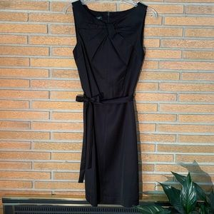 NWT: Talbots Bow Front Black Dress